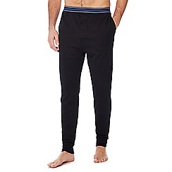 Lounge & Sleep - Black striped trim pyjama bottoms