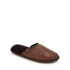 Lounge & Sleep - Tan Mule Slippers
