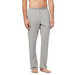 Tommy Hilfiger - Grey logo jersey trousers