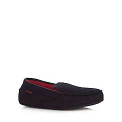 Isotoner - Black 'Pillowstep' moccasin slippers