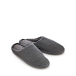 Totes - Grey waffle mule slippers