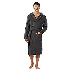 Tommy Hilfiger - Grey towelling hooded dressing gown
