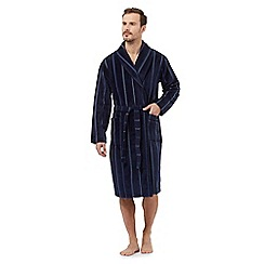 J by Jasper Conran - Navy striped velour dressing gown