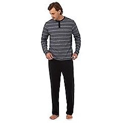 Maine New England - Big and tall grey striped print pyjama set
