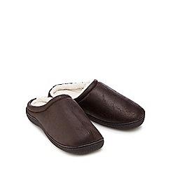 Mantaray - Dark brown mule slippers