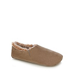 RJR.John Rocha - Taupe carpet slippers