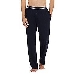 Hammond & Co. by Patrick Grant - Navy logo waist pyjama bottoms with modal