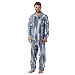 Maine New England - Blue striped cotton pyjama set