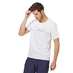 Calvin Klein - White logo print t-shirt
