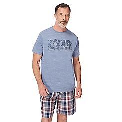RJR.John Rocha - Big and tall blue graphic print pyjama t-shirt