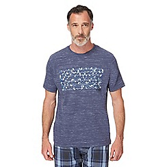 RJR.John Rocha - Big and tall blue graphic print pyjama t-shirt