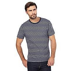 Hammond & Co. by Patrick Grant - Big and tall navy striped print t-shirt