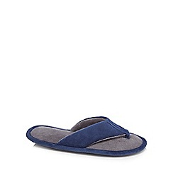 Maine New England - Navy mule slippers