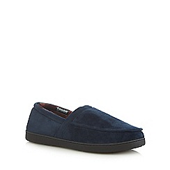 Maine New England - Navy 'Thinsulate' memory foam slippers