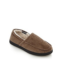 Maine New England - Beige insulated slippers