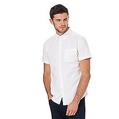 Red Herring - White button down short sleeve Oxford shirt