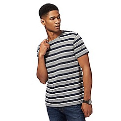 Red Herring - Navy and grey stripe t-shirt