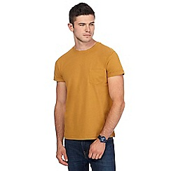 Red Herring - Big and tall dark yellow slim fit t-shirt