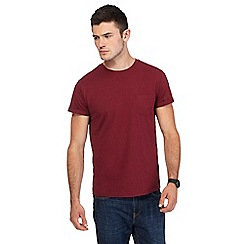 Red Herring - Dark red slim fit t-shirt