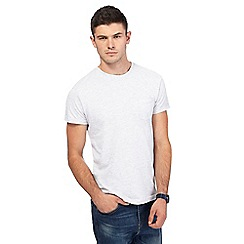 Red Herring - Big and tall light grey slim fit t-shirt
