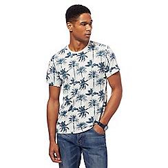 Red Herring - Grey palm tree print t-shirt