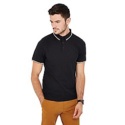 Red Herring - Big and tall black tipped polo shirt