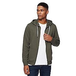 Red Herring - Dark green zip through hoodie