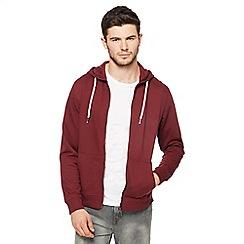 Red Herring - Dark red zip through hoodie
