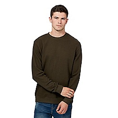 Red Herring - Big and tall khaki pique jumper