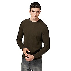 Red Herring - Khaki racking stitch jumper