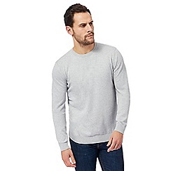 Red Herring - Big and tall grey crew neck jumper