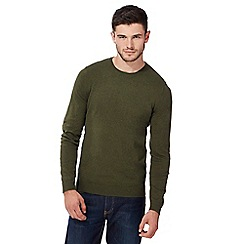Red Herring - Big and tall khaki crew neck jumper