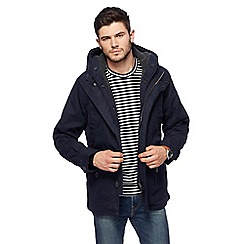 Red Herring - Big and tall navy hooded parka coat