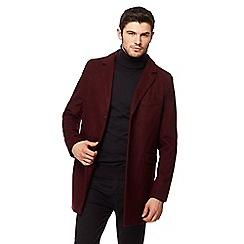 Red Herring - Dark red Epsom coat with wool
