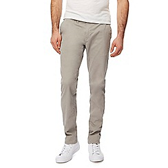 Red Herring - Big and tall light grey skinny chinos