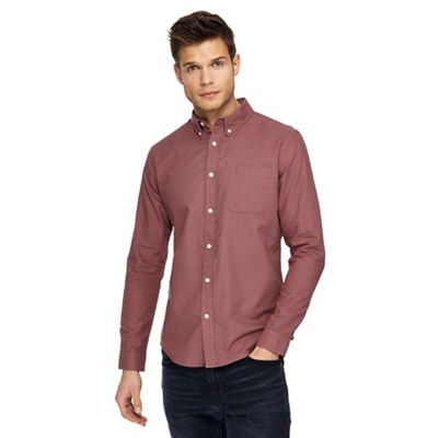 Red Herring   Red Long Sleeve Oxford Shirt by Red Herring