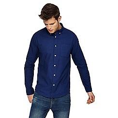 Red Herring - Navy long sleeve Oxford shirt