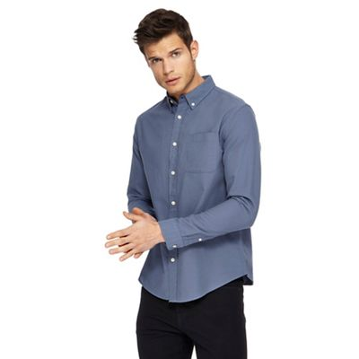 Red Herring   Blue Long Sleeve Oxford Shirt by Red Herring