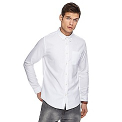 Red Herring - White long sleeve Oxford shirt