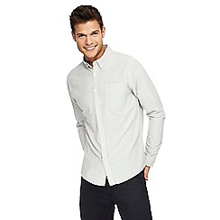 Red Herring - Khaki striped long sleeve Oxford shirt