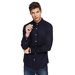 Red Herring - Navy tencel long sleeve shirt
