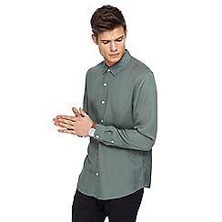 Red Herring - Khaki tencel long sleeve shirt