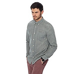 Red Herring - Big and tall khaki textured checked slim fit shirt