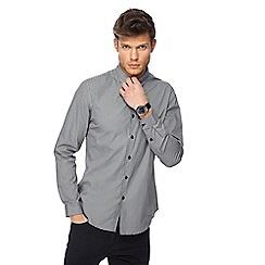 Red Herring - Grey houndstooth long sleeve slim fit shirt
