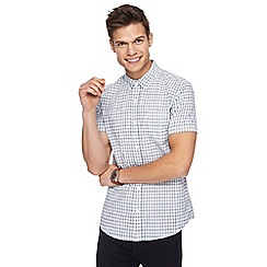 Red Herring - Big and tall big and tall white checked slim fit shirt