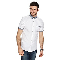 Red Herring - White waffle textured slim fit shirt