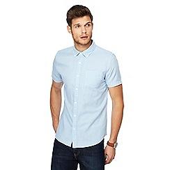Red Herring - Pale blue linen blend slim fit shirt