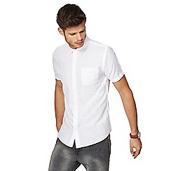 Red Herring - White linen blend slim fit shirt