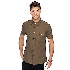 Red Herring - Khaki short sleeve military shirt