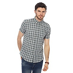 Red Herring - Khaki checked short sleeve shirt